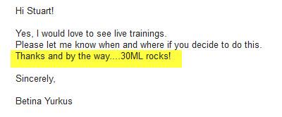 30ML rocks!