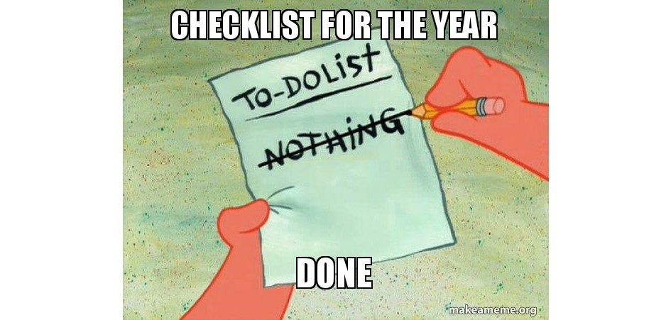 this years checklist